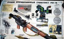 LQQK Amazing Original Soviet Russia USSR RPG-7 Rocket Launcher Color Poster BUY!