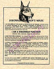 Rules In A Doberman Pinscher's House