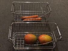 Chrome Basket Stackable Sml Veg Fruits Organiser Hack Tiny Items Easter Basket