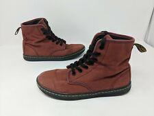 Dr. Doc Martens Shoreditch Red Canvas Boots Shoes Womens Euro 37 US L 6 UK 4 VTG