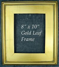 """GOLD METAL LEAF WOOD FRAME PLEIN AIR STYLE FOR 8"""" x 10"""" Painting"""