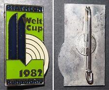 Broschen-Anstecknadel BIATHLON Welt Cup 1982 Ruhpolding