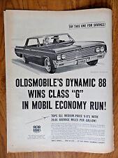 1963 Oldsmobile Dynamic 88 Ad Wins Class G in Mobil Economy Run