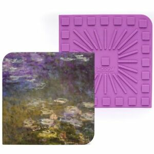"""Modgy Silicone 8"""" x 8"""" Trivet / Hot Pad - Claude Monet Water Lilies"""