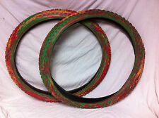 Vintage NOS Pair 24 x 2.125 Multicolor 7 STARS TIRES Old School BMX Comp III