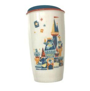 Disney WDW Magic Kingdom Icons Starbucks Ceramic Tumbler With Lid