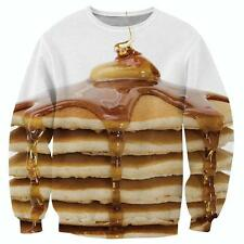 Mens Womens Fashion Junk Food 3D Print Casual Hoodies Pullover Jumper Sweatshirt