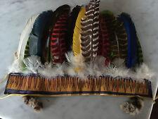 Vintage Mid Century Native American Navajo Style Feather Headdress