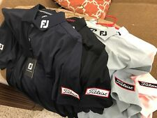 4- Titleist Patch Footjoy Tour Issued Shirts Med NWT