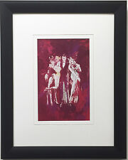 "LeRoy Neiman ""Hef and Bunnies"" Newly CUSTOM FRAMED Art Print - PLAYBOY MAGAZINE"