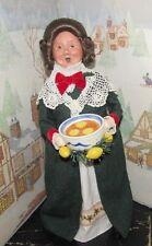 Byers Choice A Xmas Carol Mrs. Fezziwig w Lemon Punch Bowl 2010 Signed Joyce   *