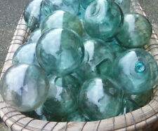 "Japanese Glass Fishing FLOATS 3-3.5"" Lot 30 Nautical Pool Tiki Decor Craft BULK"