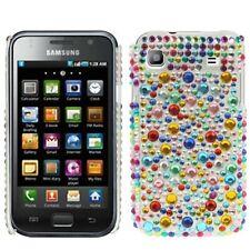 Funda para Samsung Galaxy S i9000 i9001 plus bolso case protección pedrería brillo