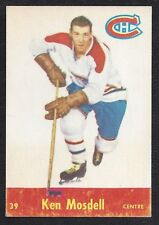 1955 Parkhurst #39 Ken Mosdell, Montreal Canadiens, Vintage NHL Hockey 1955-56