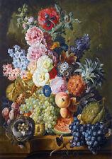 "PAINTING DIETRICH 1877 STILL LIFE FLOWERS 12x16 /"" POSTER ART PRINT HP3254"