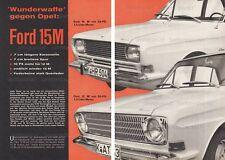 """FORD TAUNUS p6 12m/15m """"miracolo arma contro Opel"""" - test originale di 1966"""