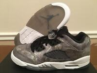 Nike Air Jordan Retro V 5 Low GG ALL STAR CAMO Cool Wolf Grey GS 819951-003 5-8y