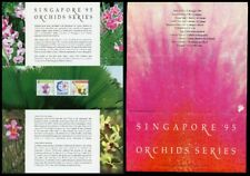 Singapore Scott #686a MNH FOLDER Orchids FLORA Stamp EXPOS PAIR $$