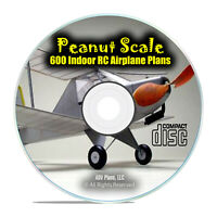 600 Peanut Scale, Small, Indoor, RC Radio Control Model Aircraft Plans DVD I18