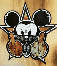 "30cm Ralley Skate Oldschool Sticker "" Bad Mouse Rusty "" Aufkleber Drift OEM JDM"