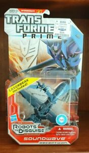 ⛄ TRANSFORMERS Prime Robots in Disguise Deluxe Class SOUNDWAVE New Hasbro