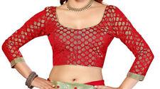 Readymade Saree Blouse, Banarasi Chanderi Silk Blouse, Designer Blouse,Choli,Top