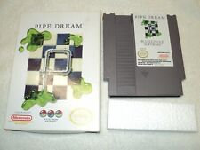 Pipe Dream Game For Nintendo NES Cartridge With Box and Foam Insert