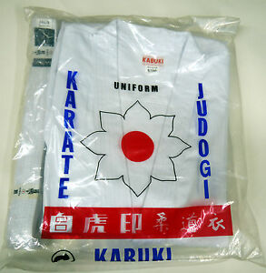 Kabuki Karate Gi Suit Uniform All Sizes White With White Belt Included