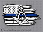 Thin Blue Line Police Mason Masonic  American flag sticker Decal
