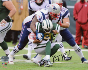Vince Wilfork New England Patriots Autographed 8x10 Tackling Photo