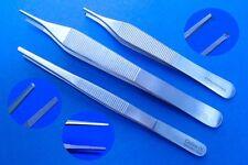 3er Set chirurgische Pinzetten nach Adson u. anatomische, Top Qualität