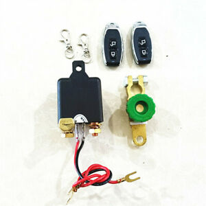 12V350A Car Battery Lsolator Switch Relay Dual Remote Control Disconnect Cut Off