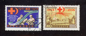 Russia-Urss/Russia-Urss 1958 Used SC.2110/2111 Red-Cross And Red Crescent