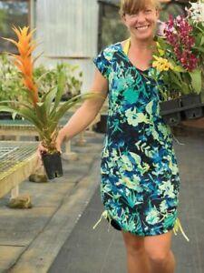 New Title Nine Reversible Flow 2-In-1 Dress *In Green & Blue* Large