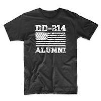 DD214 Alumni American Flag T-Shirt Military Veteran Tee Shirt