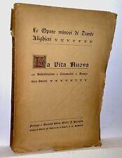 LA VITA NUOVA di Dante Alighieri  Firenze 1922
