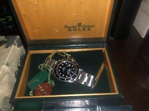 Rolex Submariner 168000 Black Dial Stainless Steel Men's Watch 1988