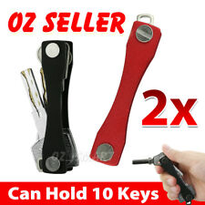 2x Aluminum Compact Key Holder Organiser Pocket Size Holds 2 - 10 Keys OZ