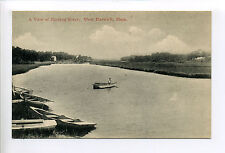 Cape Cod West Harwich MA Mass View of Herring River, person, boats, shacks,early