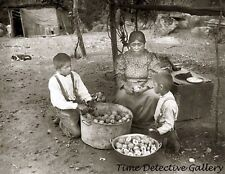 Yokut Woman & Boys, Tule River Reservation, Calif. - c1900- Historic Photo