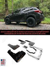 Rally Armor UR Black Mud Flaps w/ Orange Logo for 2018-2020 Subaru Crosstrek