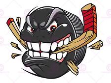 PAINTING CARTOON ICE HOCKEY PUCK ANGRY ART PRINT POSTER MP5187A
