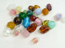 32 Vintage GLASS BEADS from 1950s-60s & Earlier, Some Lampwork, Foils etc