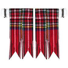 CC Royal Stewart Tartan Kilt Flashes with Heavy Buckle/Kilt Hose Sock Flashes