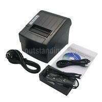 POS-8220LN 80mm Dot Receipt Paper Barcode Thermal Printer USB/LAN/ESC/POS os12