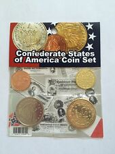 CIVIL WAR CSA CONFEDERATE STATES OF AMERICA COIN SET  4 PC'S RESTRIKES MINT