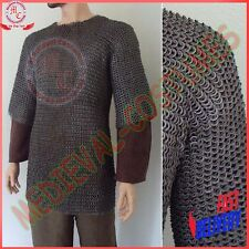 Large Size Flat Riveted with Flat Washer Chainmail Shirt Chain Mail Haubergeon R