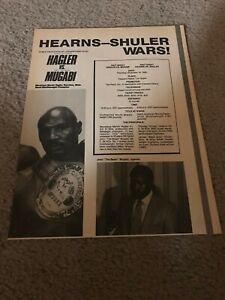 Vintage 1985 MARVLOUS MARVIN HAGLER vs JOHN MUGABI Poster Print Ad BOXING RARE