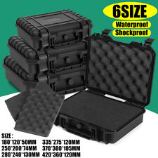 Waterproof Hard Plastic Carry Case Tool Storage Box Portable Organizer + Foam AU