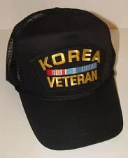 Korea Veteran Summer Mesh High Crown Heat Transfer Military Trucker Style Hat.